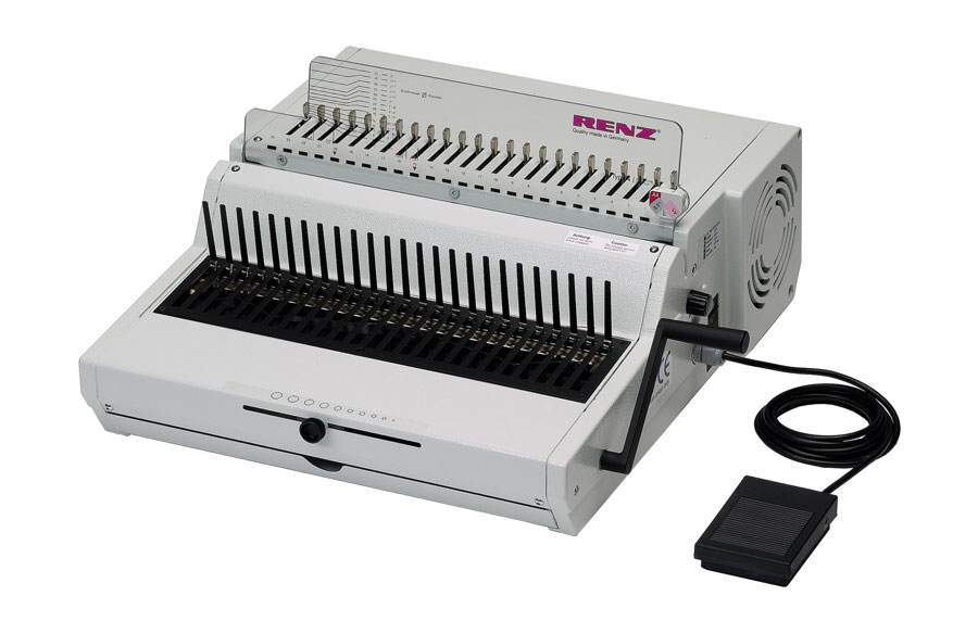Renz Combi E Plastic Comb Binding Machine