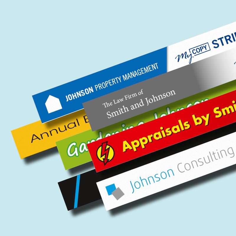 Customisable myCopy Strips for Planax Copy Binder 5
