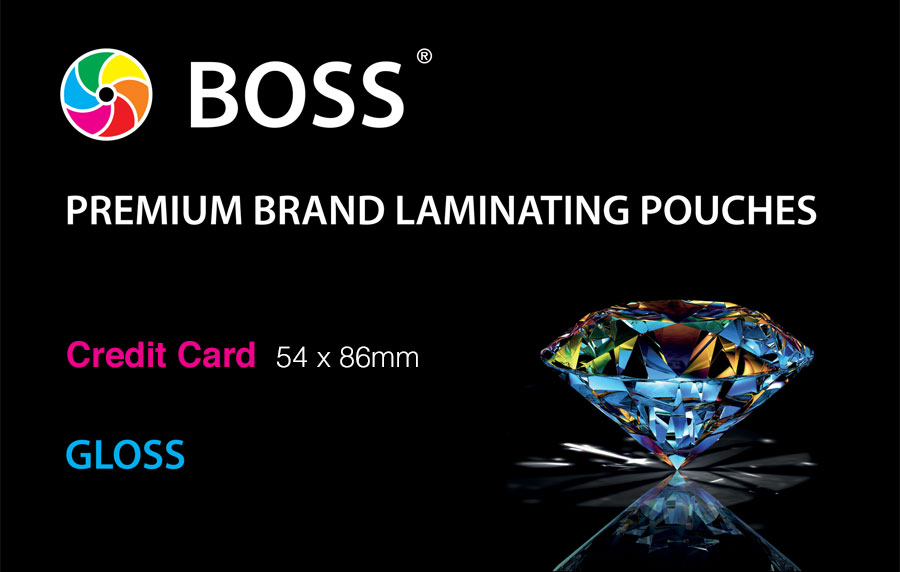 Credit Card Gloss Laminating Pouch