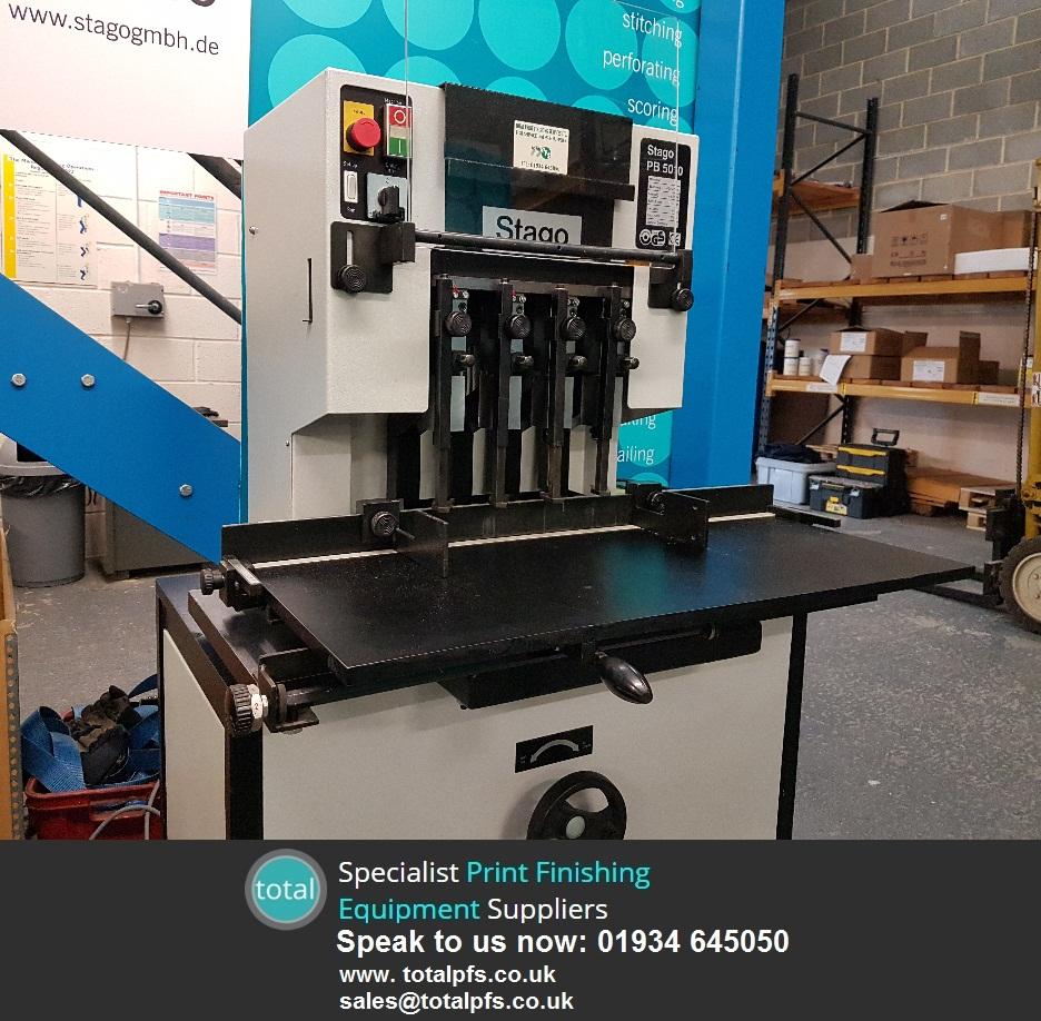 Refurbished Stago Pb5010 4 Head Paper Drilling Machine